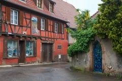 Rota do vinho do curso em França Fotografia de Stock Royalty Free