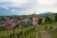 Rota do vinho do curso em França Imagens de Stock