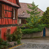 Rota do vinho do curso em França Imagem de Stock Royalty Free