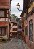 Rota do vinho do curso em França Imagens de Stock Royalty Free