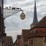 Rota do vinho do curso em França Vins do DES da rota do La Fotos de Stock Royalty Free