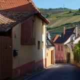 Rota do vinho do curso em França Vins do DES da rota do La Fotografia de Stock Royalty Free