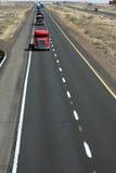 Rota dos camionistas Fotografia de Stock Royalty Free