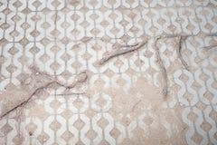 Rota i tegelstengolv Skapad abstrakt natur Arkivfoto
