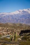 Rota no vale, no cardon só e para fora nas montanhas na distância Imagens de Stock