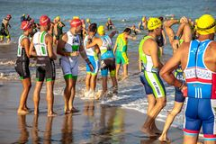XXI triathlon Herbalife Villa de Rota royalty free stock photo
