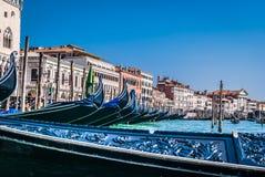Rota turística com gôndola, Veneza Fotografia de Stock Royalty Free
