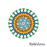 Rota virus particle structure Royalty Free Stock Photo