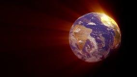 Rotación de la tierra del planeta stock de ilustración