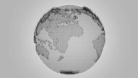 Rotación de la tierra de Digitaces stock de ilustración