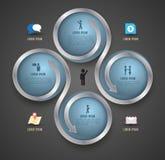 Rotación del círculo con la plantilla de los iconos Foto de archivo libre de regalías