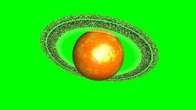 Rotación del planeta Saturn stock de ilustración