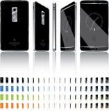 Rotación elegante del teléfono 3D - 21 marcos Fotografía de archivo