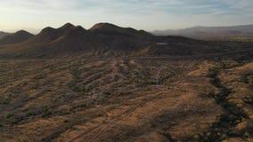 rotación 360 en el aire sobre el desierto de Sonoran metrajes