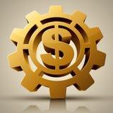 Rotación Mark Gold Dollar Foto de archivo