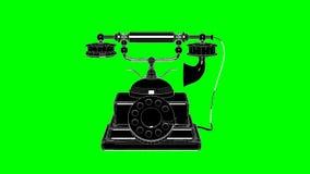 Rotación retra del teléfono en la pantalla verde metrajes