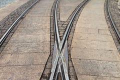 Rotaie del tram Fotografia Stock