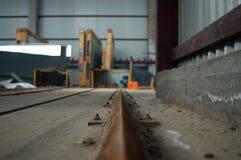 Rotaie della fabbrica Fotografia Stock Libera da Diritti