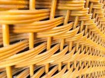 Rotan achtergrond met de hand gemaakt textuurweefsel, Royalty-vrije Stock Foto
