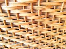 Rotan achtergrond met de hand gemaakt textuurweefsel, Stock Foto