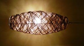 Rotan hangende lamp Royalty-vrije Stock Afbeeldingen