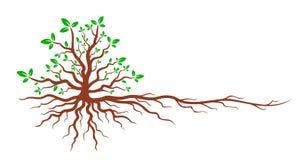 rotar treen royaltyfri illustrationer