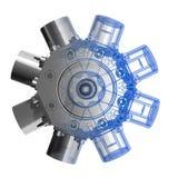 Rotarry Motor (Röntgenstrahl 3D) Lizenzfreie Stockfotos