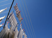 Free Rotary Clothes Drier Stock Photography - 4166272
