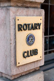Rotary Club sign. Fulda, Germany - April 24, 2011: Sign of the Rotary Club in Fulda. Rotary International is an exclusive business club with over 1.2 million Stock Photos