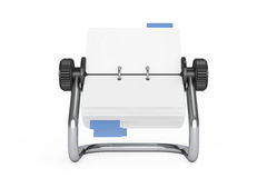 Rotary Desk Card Index. 3d Rendering. Rotary Desk Card Index on a white background. 3d Rendering Royalty Free Stock Photography