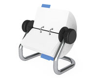 Rotary Desk Card Index. 3d Rendering. Rotary Desk Card Index on a white background. 3d Rendering Stock Photos