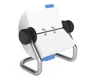 Rotary Desk Card Index. 3d Rendering. Rotary Desk Card Index on a white background. 3d Rendering Royalty Free Stock Images
