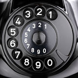 Rotary dial. Of an old phone Royalty Free Stock Image