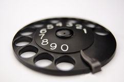 Rotary dial  without phone Royalty Free Stock Photos