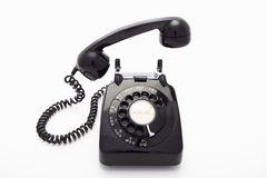 A rotary dial telephone