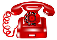 Rotary dial telephone Stock Photography