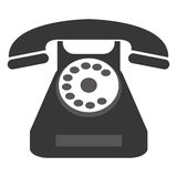 Rotary dial telephone. Grey classic rotary dial telephone  illustration Royalty Free Stock Photo