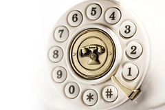 Rotary dial of a vintage telephone Royalty Free Stock Photos