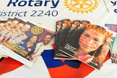 Rotary District 2240 manazines royalty free stock photography