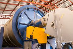 Rotary dryer. The coffee bean rotary dryer royalty free stock image