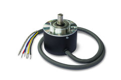 Rotary encoder for automation system Royalty Free Stock Image
