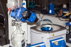 Rotary evaporator working process Stock Photos