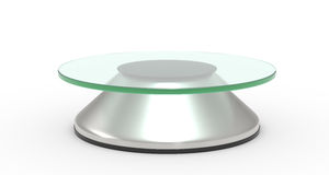 Rotary glass platform Royalty Free Stock Images