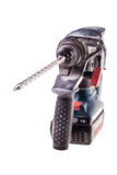 Rotary hammer over white Royalty Free Stock Photos