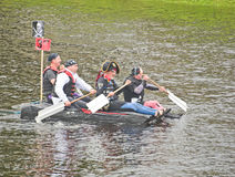 Rotary for Inverness and Culloden in raft race. Stock Photos