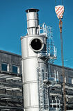 Rotary kiln in construction site Stock Photography