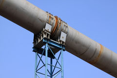 Rotary kiln waste heat recovery equipment in a cement factory Royalty Free Stock Photos