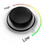 Rotary knob from high to low Royalty Free Stock Photography