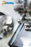 Rotary lathe chuck CNC metal cutting machine Stock Photo