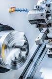 Rotary lathe chuck CNC metal cutting machine Stock Photography